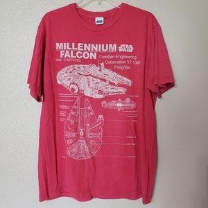 STAR WARS Millennium Falcon Tshirt XL